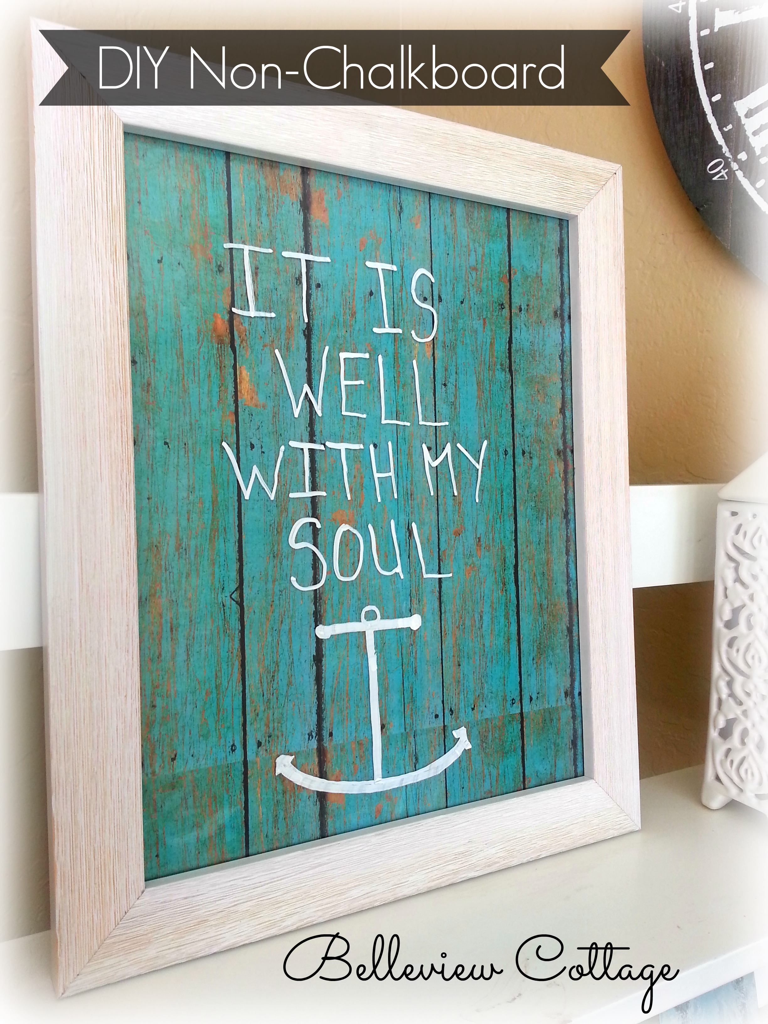"""DIY Decorative """"Non-Chalkboard"""" Message Boards – Dwelling Well"""
