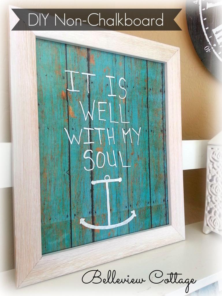 DIY Erasable Decorative Message Board | Belleview Cottage