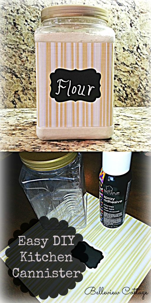 Easy DIY Kitchen Canister | Belleview Cottage