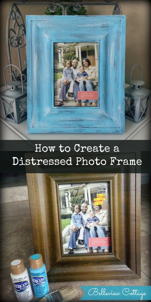 DIY Rustic Distressed Photo Frame | Belleview Cottage