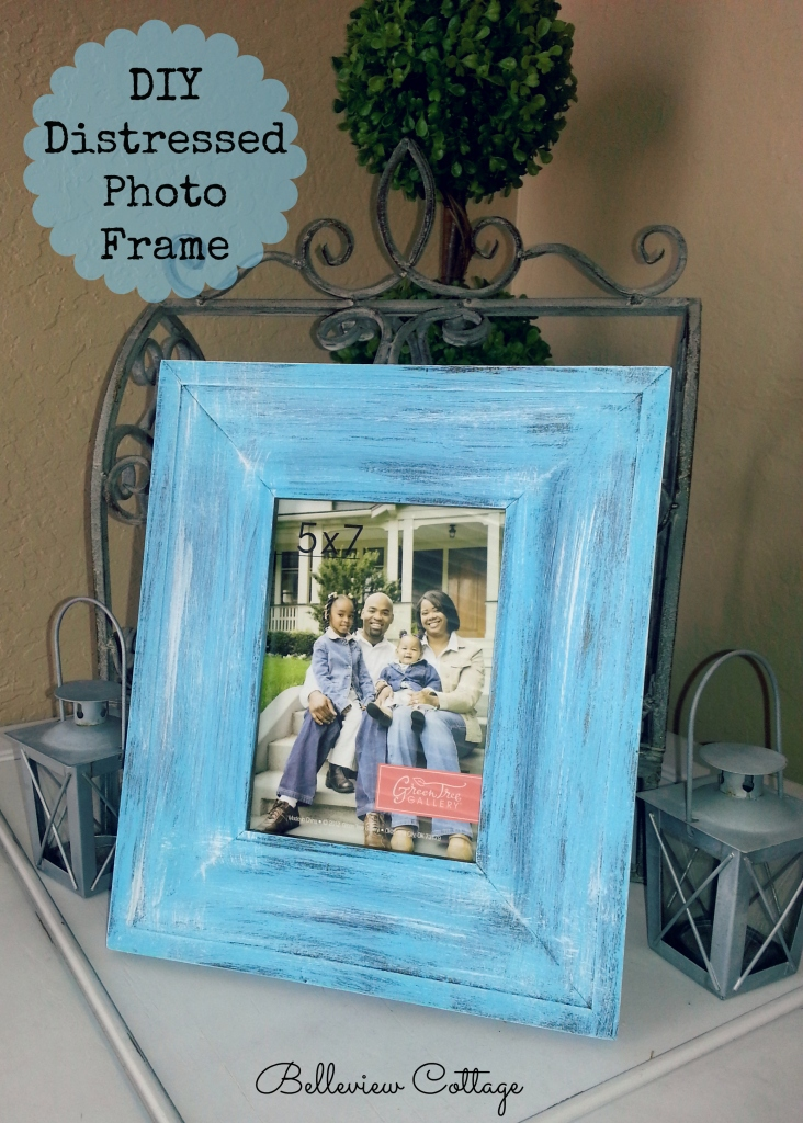 DIY Distressed Photo Frame | Belleview Cottage