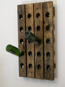 Wood4Decor, Wine Riddling Rack Distressed Wood Antique Style Winerack