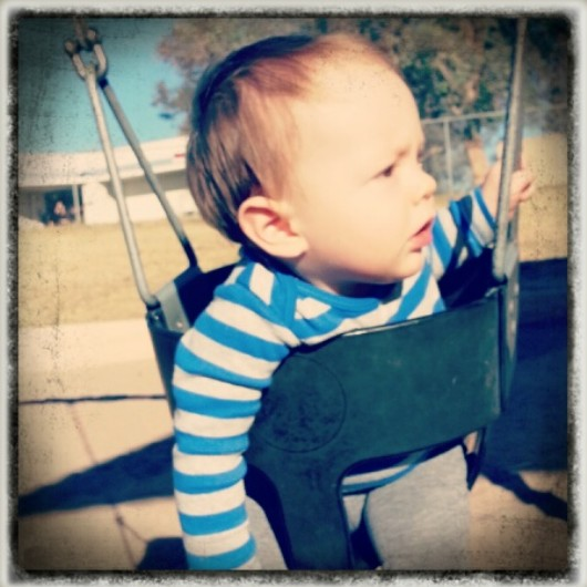 Swinging at the Park | Belleview Cottage