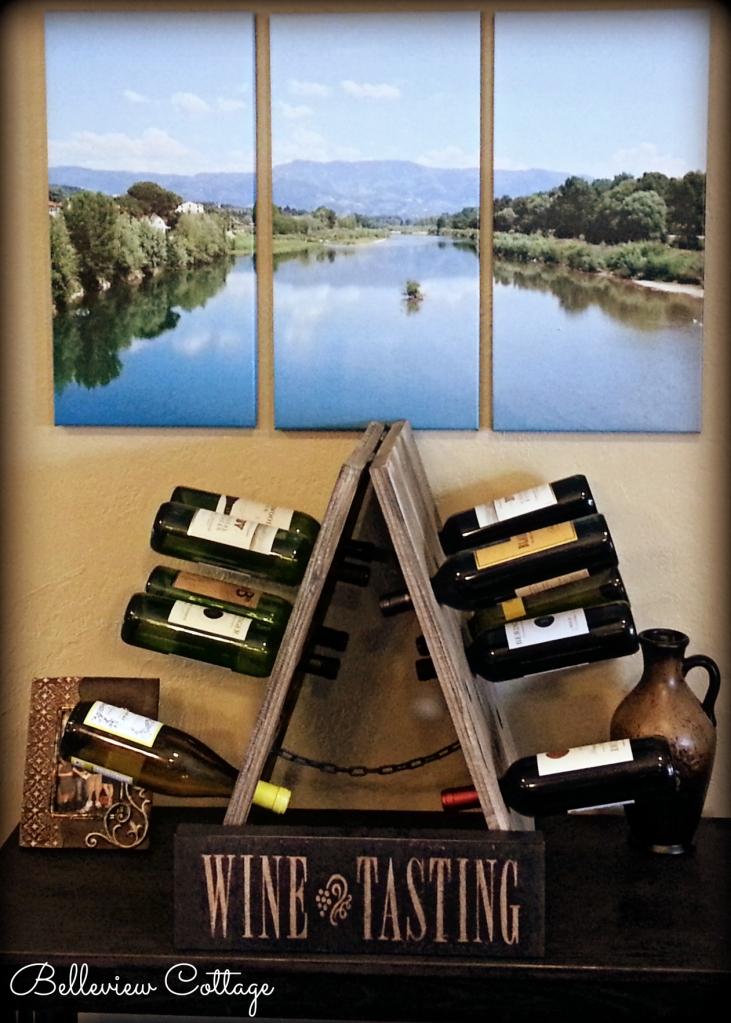 Rustic Riddling Wine Rack | Belleview Cottage