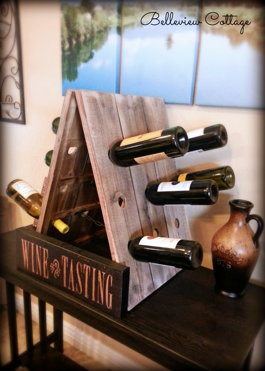 Rustic Wine Riddling Rack (Wooden A-Frame Wine Rack)