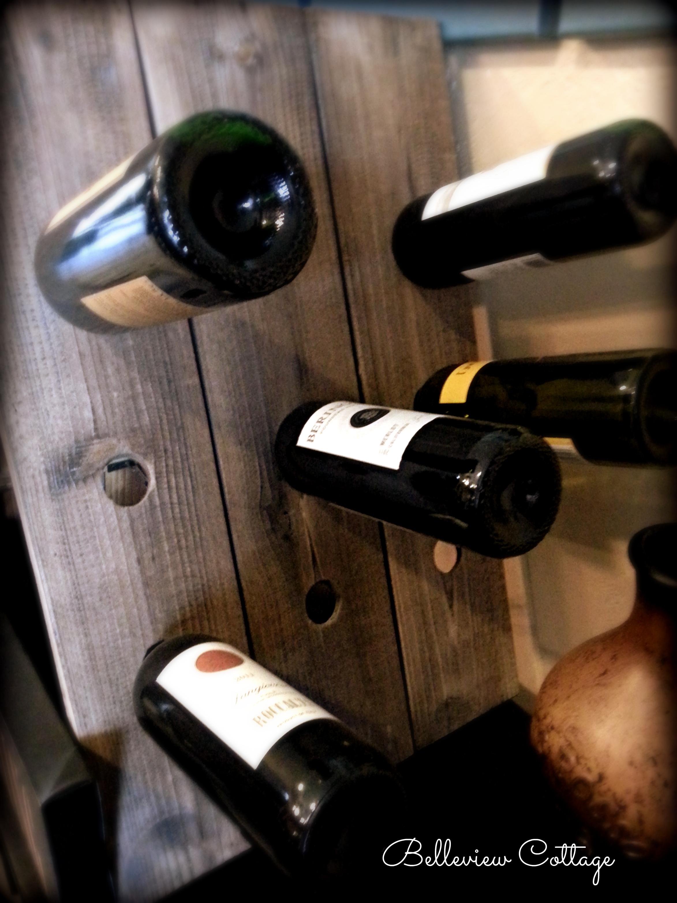 4 bottle wine rack plans