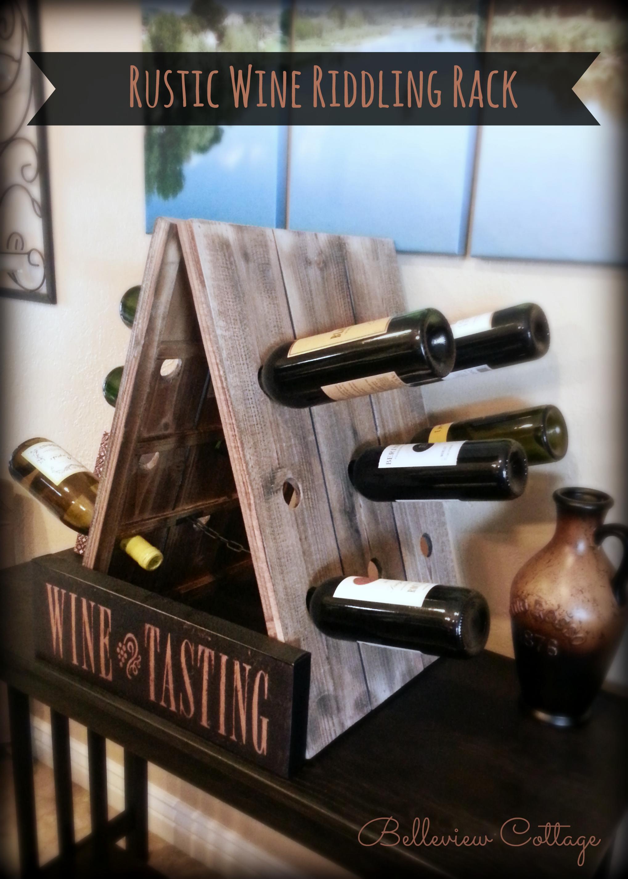 Rustic Wine Riddling Rack (Wooden A-Frame Wine Rack ...