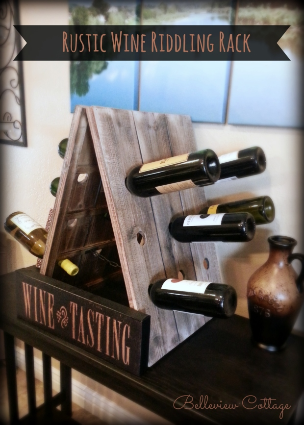 Rustic Wine Riddling Rack |DIY and Shopping Ideas | Belleview Cottage
