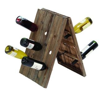 Woodland Imports Rustic 18 Bottle Wine Rack