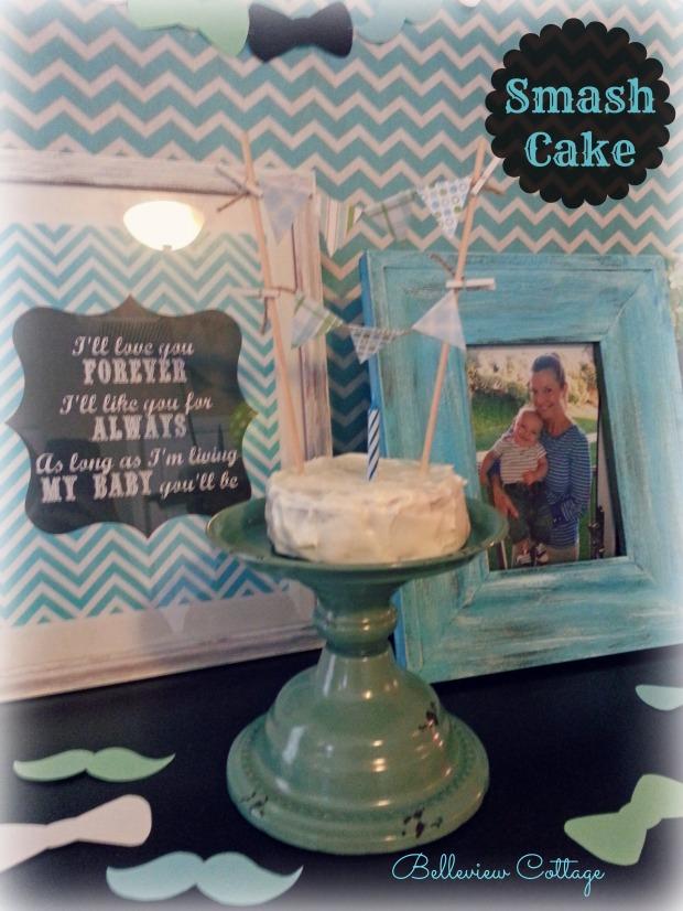 Smash Cake | Little Man Party | Belleview Cottage