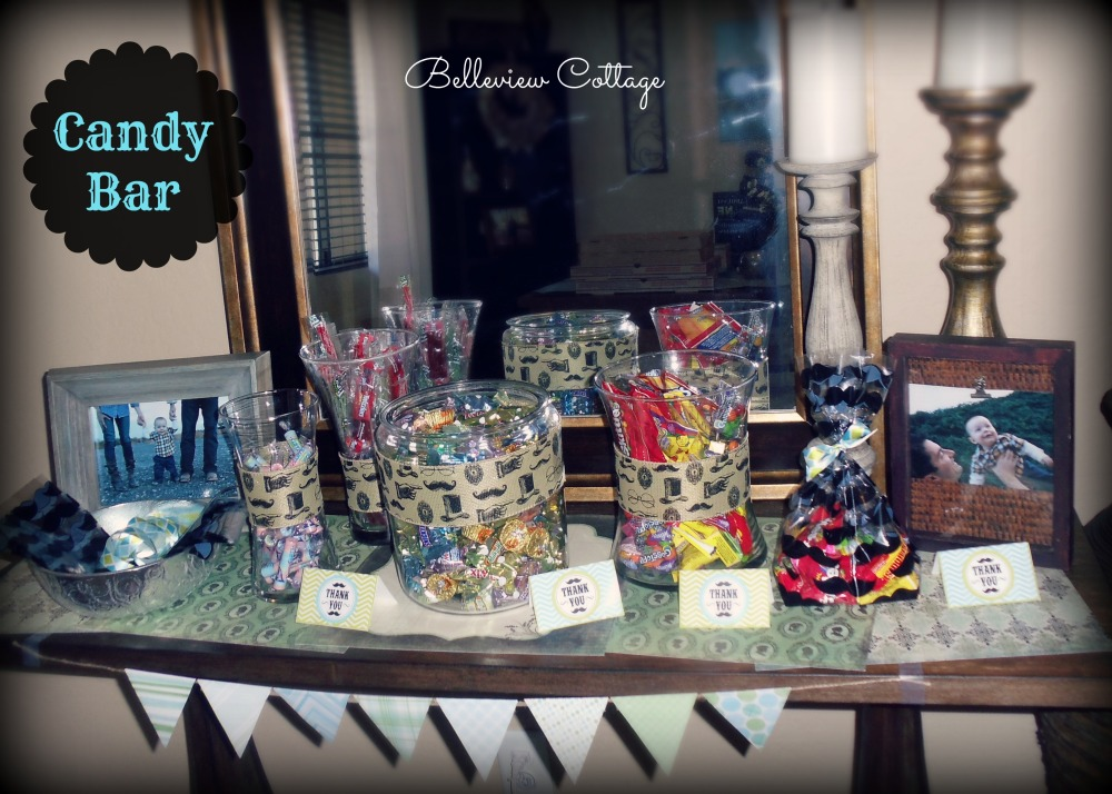 Candy Bar Party Favors | Little Man Party | Belleview Cottage