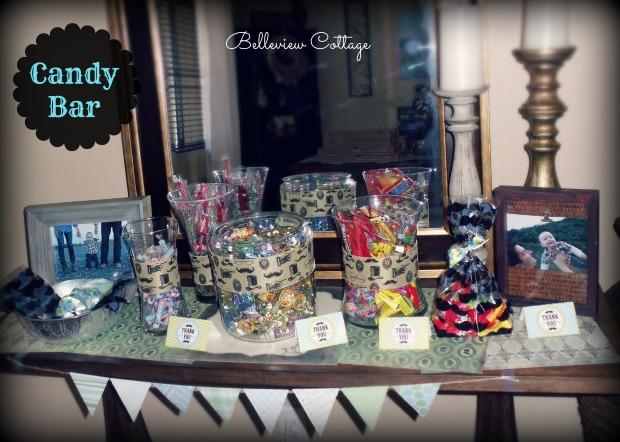 Candy Bar Party Favors | Little Man Party | Belleview Cottage
