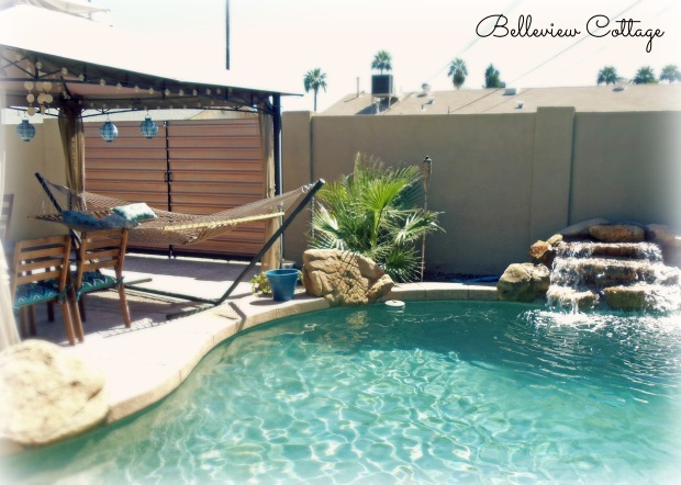 Pool Area & Hammock | Little Man Party | Belleview Cottage