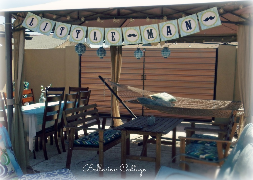 Outdoor Seating | Little Man Party | Belleview Cottage