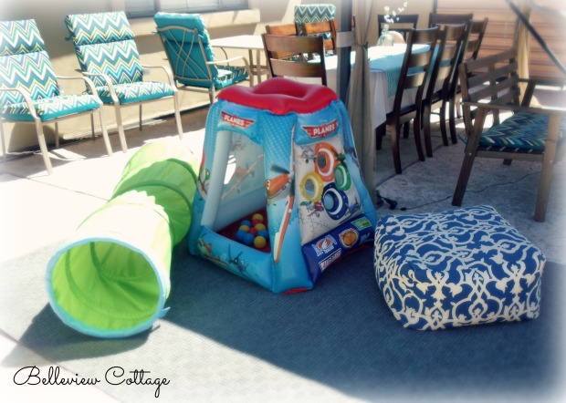 Outdoor Play Area | Little Man Party | Belleview Cottage