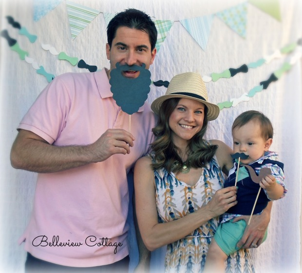 DIY Photo Booth | Little Man Party | Belleview Cottage