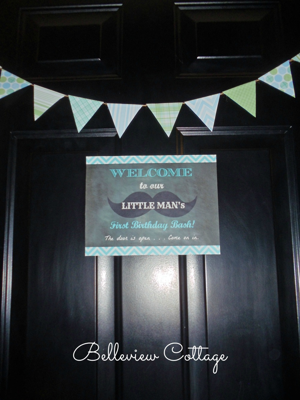 Welcome Sign & Mini Bunting Banner | Little Man Birthday Party | Belleview Cottage