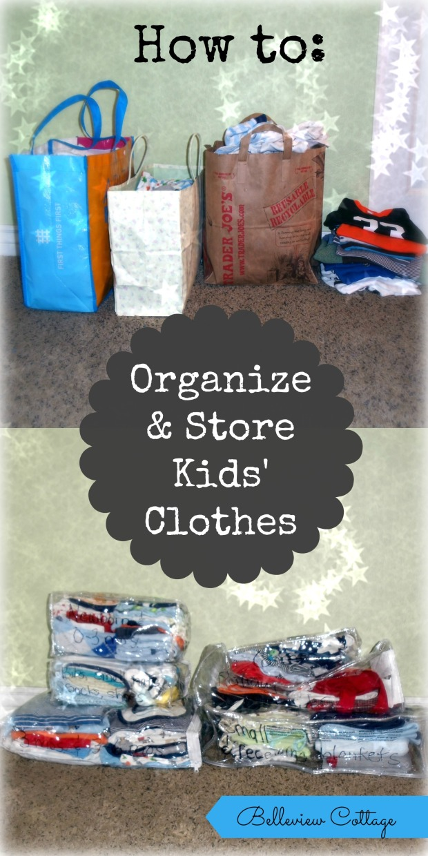 How to Organize & Store Kids' Clothes (Life Hack) | Belleview Cottage