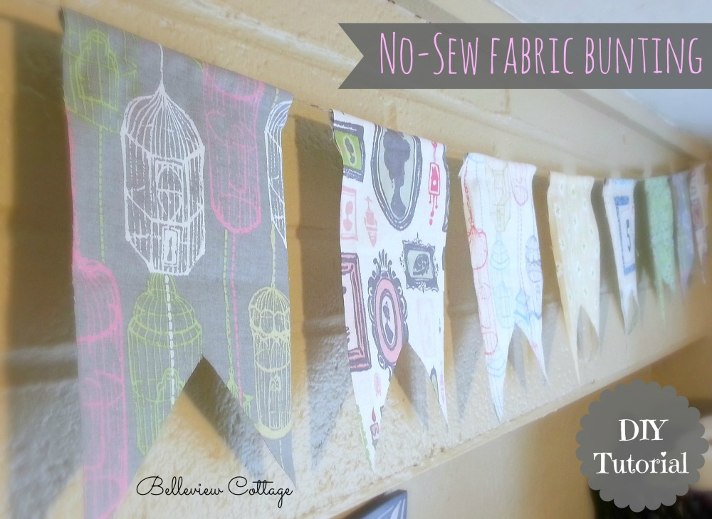 Easy No-Sew Fabric Bunting Tutorial | Belleview Cottage