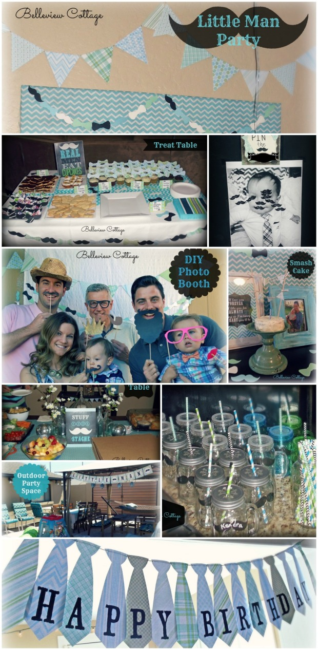 """""""Little Man"""" party ideas! Printables and party decoration ideas for a Little Man party."""