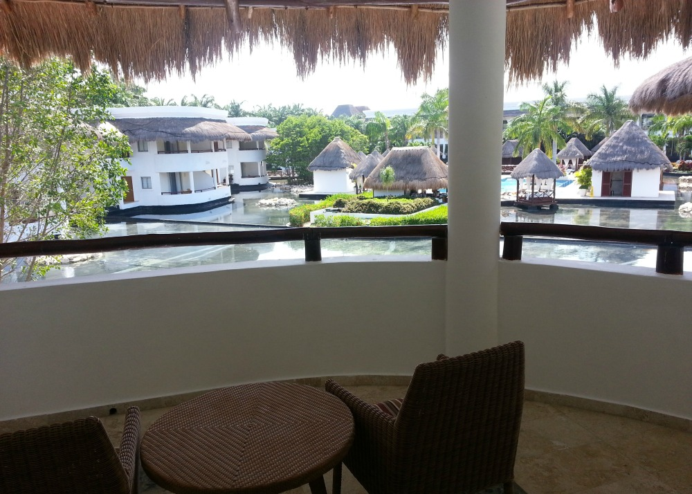 Balcony view of the lagoon, Laguna Villa suite, Grand Riviera Princess resort, Playa Del Carmen, Mexico