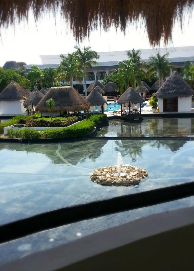 Balcony view of the lagoon and private pool | Laguna Villa suite, Grand Riviera Princess resort, Playa Del Carmen, Mexico