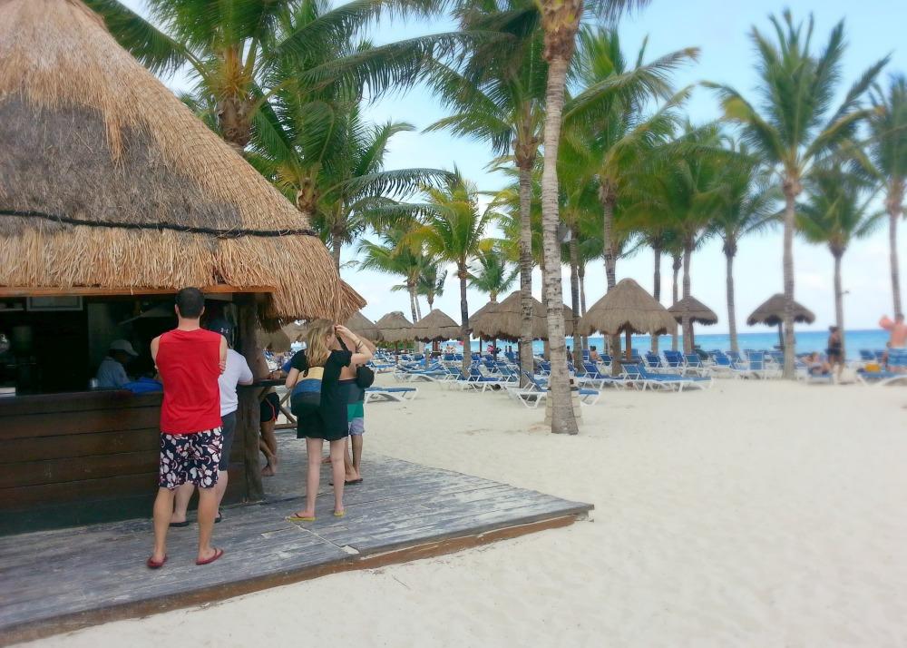 Beach bar at the Grand Riviera Princess resort | Playa Del Carmen, Mexico