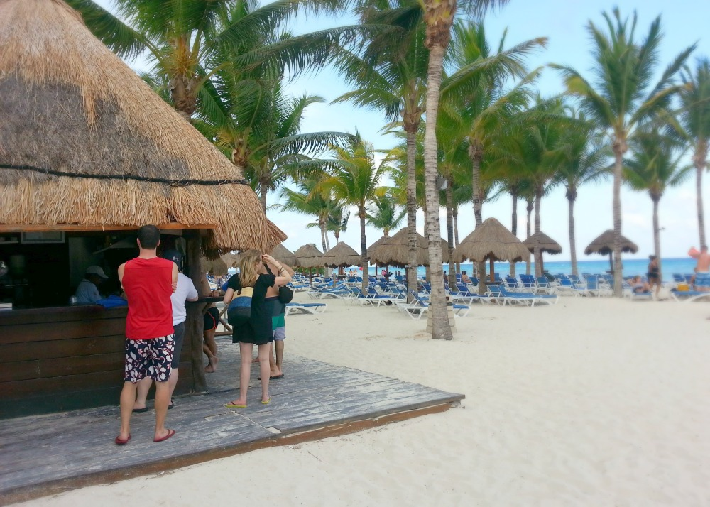 Beach bar at the Grand Riviera Princess resort | Playa Del Carmen, Mexico