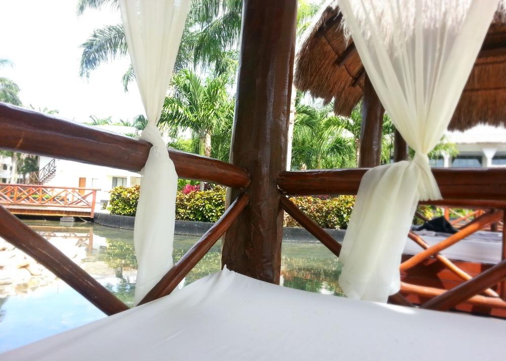 Cabanas at the Laguna Villas private pool, Grand Riviera Princess resort, Playa Del Carmen, Mexico