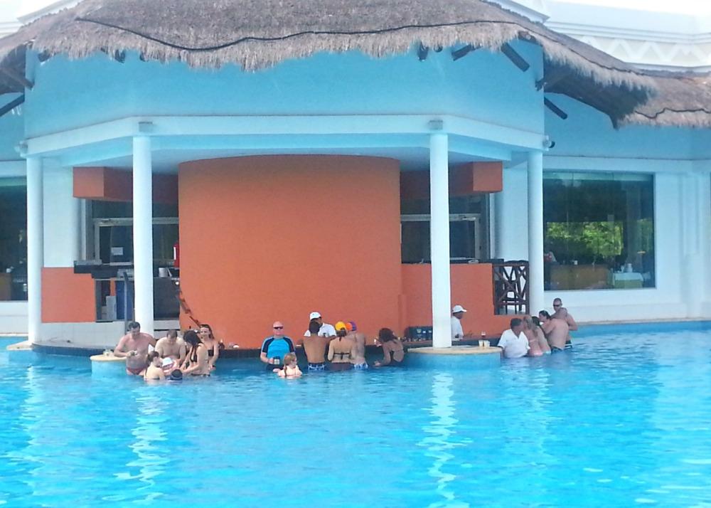 Swim-up bar at the Grand Riviera Princess | Playa Del Carmen, Mexico