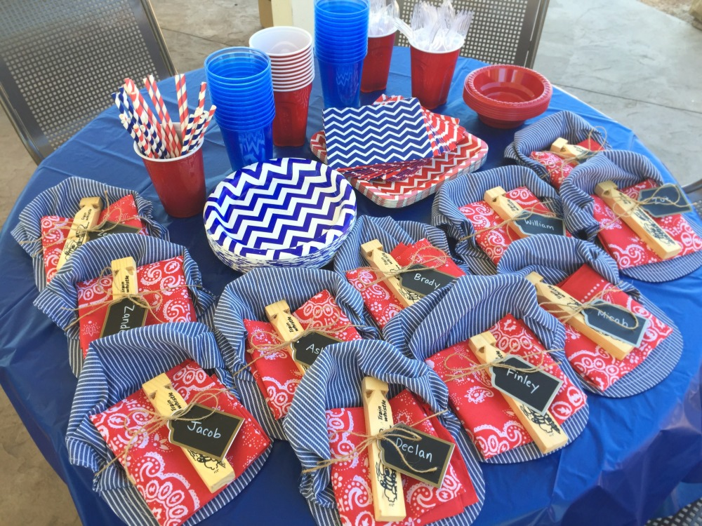 Train-themed birthday party