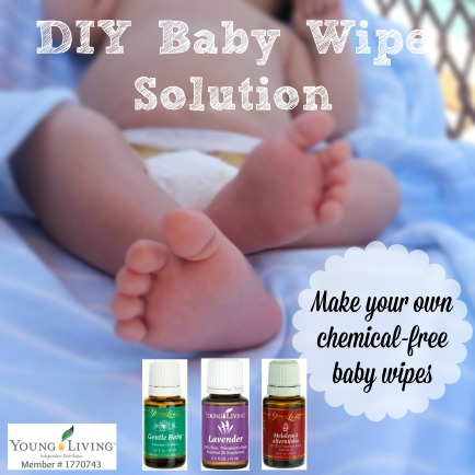 DIY baby wipe solution, using essential oils