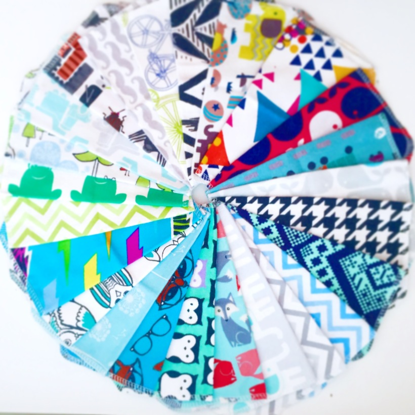 Reusable cloth baby wipes | Belleview Cottage