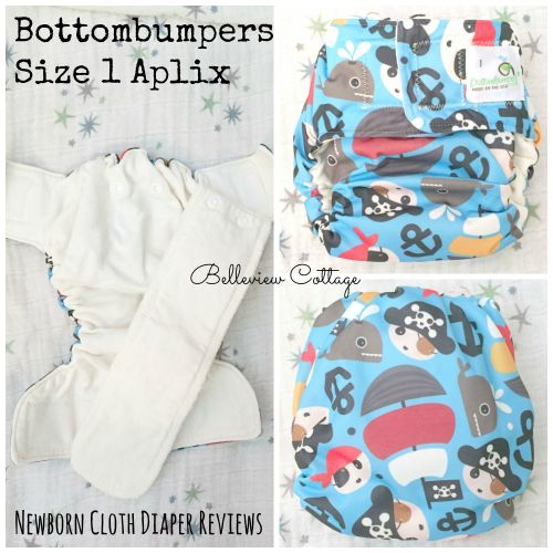 Newborn Cloth Diaper Reviews: Bottombumpers Size 1 | Belleview Cottage