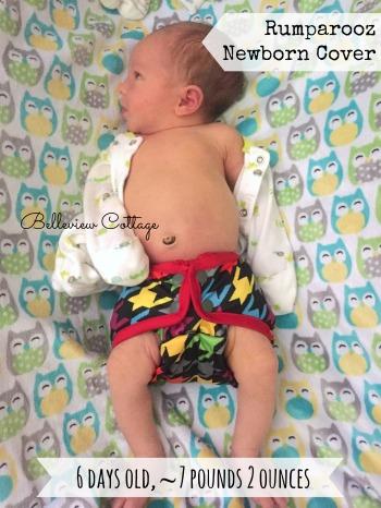Rumparooz Newborn Cloth Diaper Cover Review | Belleview Cottage