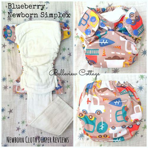 Newborn Cloth Diaper Reviews: Blueberry Newborn Simplex | Belleview Cottage