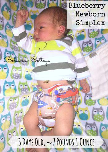 Newborn Cloth Diaper Reviews: Blueberry Simplex | Belleview Cottage