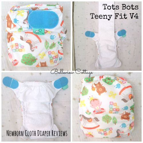 Newborn Cloth Diaper Reviews: Tots Bots Teeny Fit V4 | Belleview Cottage
