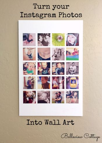 Turn your Instagram photos into wall art! | Belleview Cottage