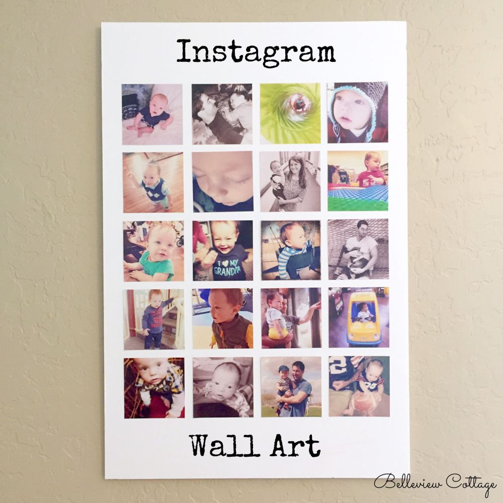 How to turn your Instagram photos into wall art | Belleview Cottage