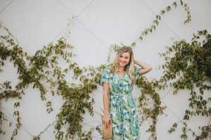 Palm print maxi dress from Blooming Cactus Boutique. Photo cred: Carly Gabrielle Photography (Arizona)