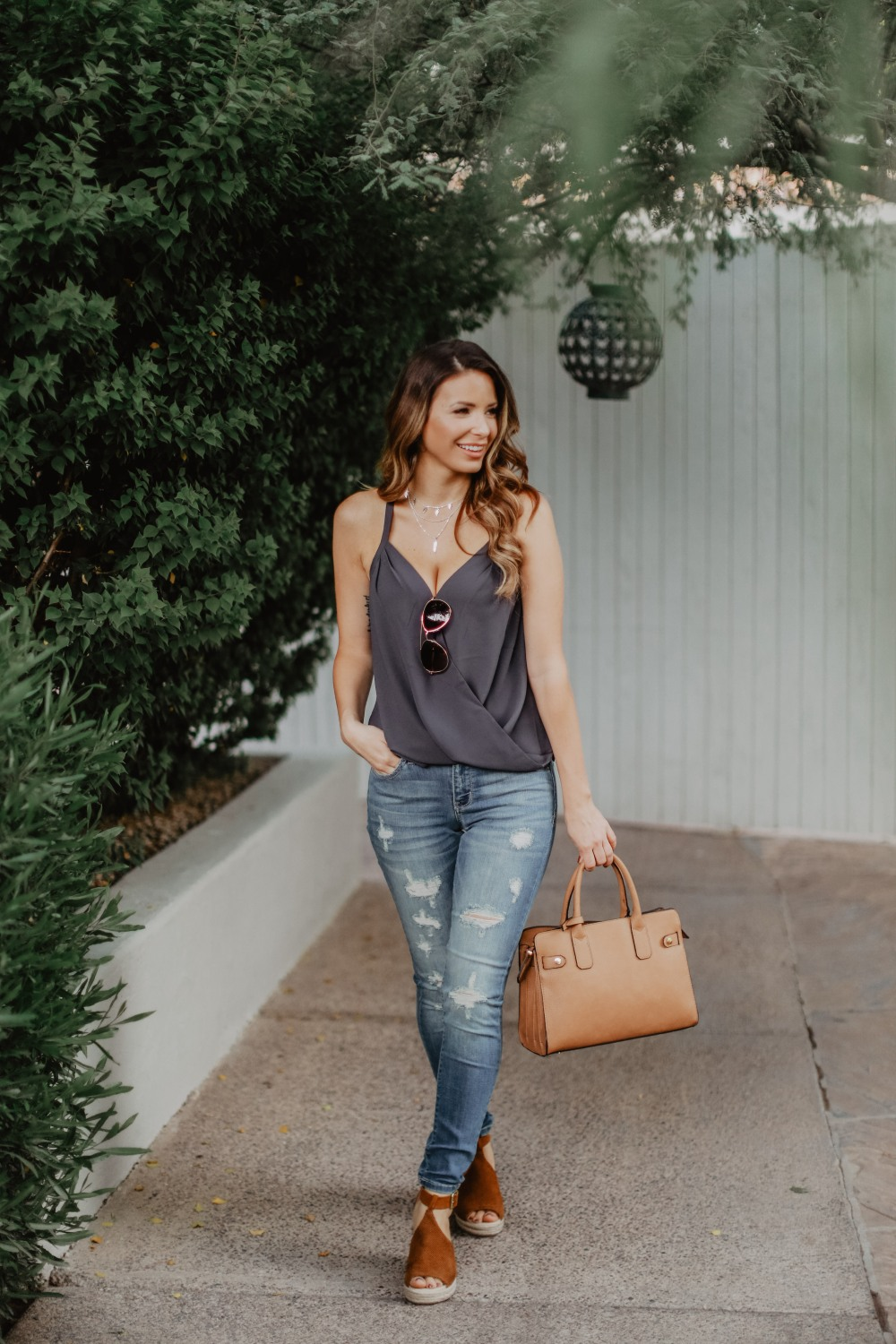 Perfect fall transitional outfit from Blooming Cactus Boutique