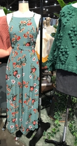 Gorgeous floral jumpsuit for fall! This is one of the shades of teal that is trending this year (see color report at the end of this post!). The floral is so pretty! Layer a fitted white tee under sleeveless jumpsuits for cooler temps.