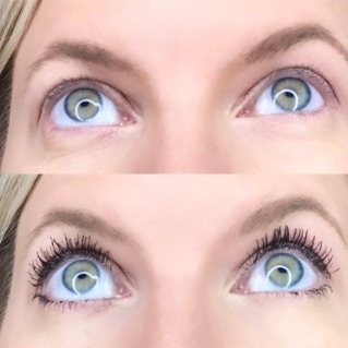 Before & after with Younique Moodstruck Epic Mascara