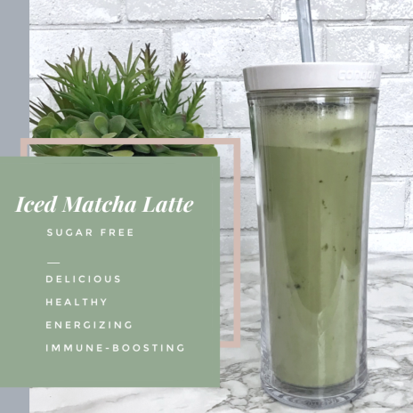 Sugar Free Iced Matcha Latte Recipe